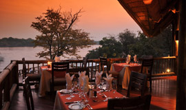Sunset dinner at the David Livingstone